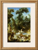 La Poursuite Prints by Jean-Honoré Fragonard