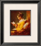 Young Girl Reading Art by Jean-Honoré Fragonard