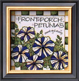Front Porch Petunias Poster by Joy Marie Heimsoth