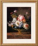 Fleurs dans un Vase de Porceleine Bleue, c.1780 Poster by Anne Vallayer-coster
