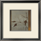 Umber Leaves Prints by Linda Yoshizawa