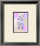 Floral with Modern Vases Print by Josephine French