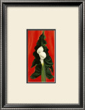 Calla Lilies on Red, 1928 Posters by Georgia O'Keeffe