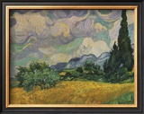 Wheatfield with Cypresses, c.1889 Prints by Vincent van Gogh