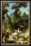 La Poursuite Posters by Jean-Honoré Fragonard