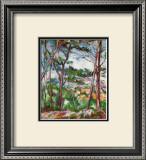 Landscape Near Aix Print by Paul Cézanne