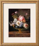 Fleurs dans un Vase de Porceleine Bleue, c.1780 Prints by Anne Vallayer-coster