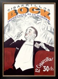 Bock Cigarrillos Framed Giclee Print by Achille Luciano Mauzan