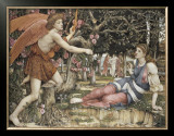 Love and the Maiden Posters by John Roddam Spencer Stanhope