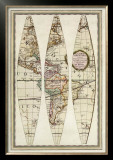 Globo Terrestre I, c.1792 Framed Giclee Print by Giovanni Maria Cassini
