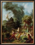 L'Amant Couronne Posters by Jean-Honoré Fragonard