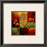 Orange Orchid Prints by Jill Deveraux