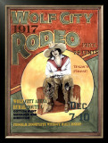 Wolf City Rodeo, 1917 Framed Giclee Print by Sharon Hunt