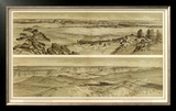 Grand Canyon: Views Looking East and South from Mt. Trumbull, c.1882 Framed Giclee Print by William Henry Holmes
