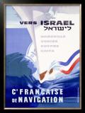Ocean Liner, Israel Framed Giclee Print by Noel Revest
