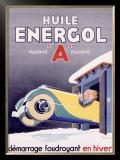 Huile Energol Framed Giclee Print by René Vincent