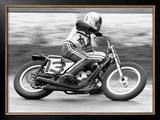 Dave Aldana Norton Flat Track Framed Giclee Print by Jerry Smith