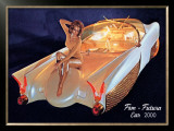 Fem Futura Car 2000 Framed Giclee Print by David Perry
