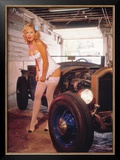 Street Rods and Lingerie Framed Giclee Print by David Perry