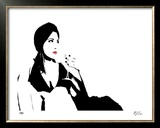 Cat Lounge I Limited Edition Framed Print by M.J. Lew