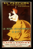 La Rose Jacqueminot Coty Framed Giclee Print by Leonetto Cappiello