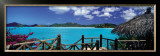 Bay View and Straw Umbrella, Coco Bay, Caribbean Print by Tom Mackie