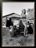 Pin-Up Girl: Street Rod Hula Framed Giclee Print by David Perry
