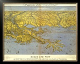 Louisiana, Mississippi, Alabama and Part of Florida, c.1861 Framed Giclee Print by John Bachmann
