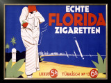 Echte Florida Zigaretten Framed Giclee Print by Langenberg 