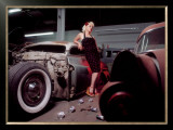 Pin-Up Girl: Chop Top Merc Framed Giclee Print by David Perry