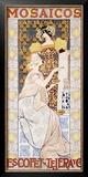Mosaicos Escofet, Tejera Y Framed Giclee Print by Alexandre De Riquer