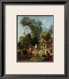 L'Amant Couronne Print by Jean-Honoré Fragonard
