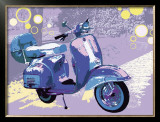 Vintage Vespa Poster by Michael Cheung