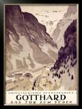 Gotthard Framed Giclee Print by Otto Baumberger