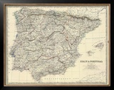 Spain, Portugal, c.1861 Framed Giclee Print by Alexander Keith Johnston