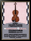 Hermann Glassl Violin Maker Framed Giclee Print