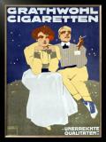 Grathwohl Cigaretten Framed Giclee Print by Ludwig Hohlwein