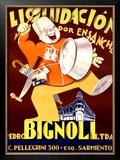 Bignoli Liquidacion Framed Giclee Print by Achille Luciano Mauzan