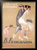 Damen Strumpfe B. Fehlbaum Framed Giclee Print by Emil Cardinaux