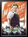 Soviet Communist Poster Framed Giclee Print by Victor Koretsky