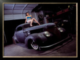 Pin-Up Girl: Street Rod Coupe Framed Giclee Print by David Perry
