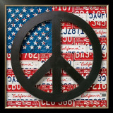 American Flag Peace Sign Prints by Aaron Foster