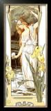 Fleurs des Eaux Framed Giclee Print by Elisabeth Sonrel