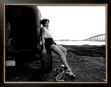Pin-Up Girl: Rat Rod Framed Giclee Print by David Perry