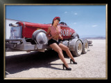 Pin-Up Girl: Salt Flat High Boy Framed Giclee Print by David Perry