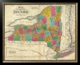 State of New York, c.1831 Framed Giclee Print by Samuel Augustus Mitchell
