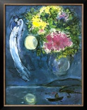 Lovers with Bouquet, c.1949 Posters by Marc Chagall