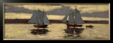 Gloucester, Mackerel Fleet at Sunset, c.1884 Prints by Winslow Homer