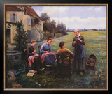 Sewing Circle Prints by Daniel Ridgway Knight