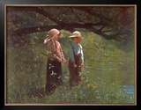 Fishin' Prints by Winslow Homer